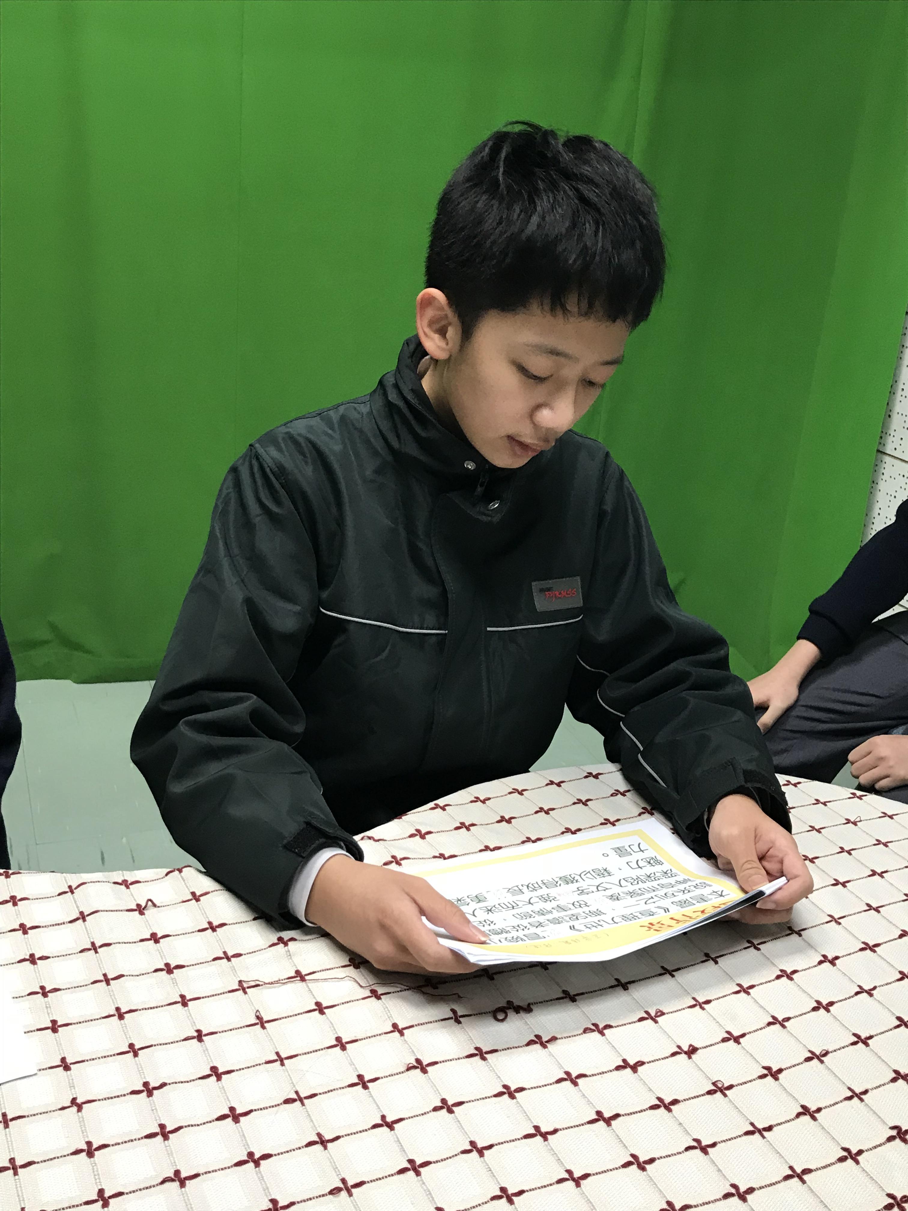 中二級「有聲好書」閱讀演繹比賽5